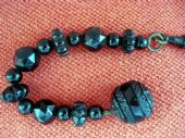 Victorian Carved Whitby Jet Beads Decorative Piece -Antique Accessory (SOLD)